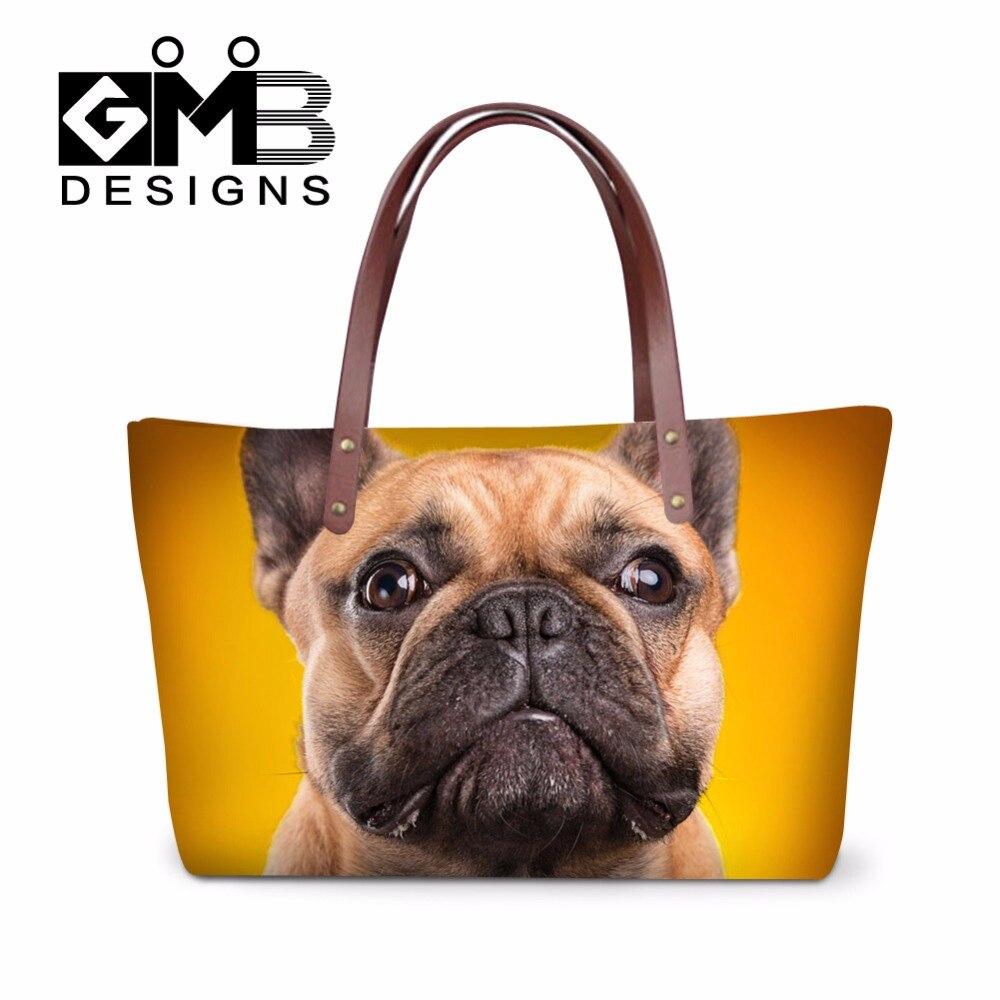 Fashion Dog Shoulder Handbags for Girls Teenagers Bulldog Over the Shoulder Bags for Women Large Casual Tote Bag Summer hand Bag