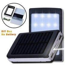 Без батареи) 18650 солнечная батарея зарядное устройство DIY коробка повербанк чехол Led для Xiaomi huawei мобильный телефон power Pover Bank 20000mah