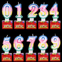 High Quality Crystal Digital Candles Birthday for Cake  Kids Party DIY Decorations
