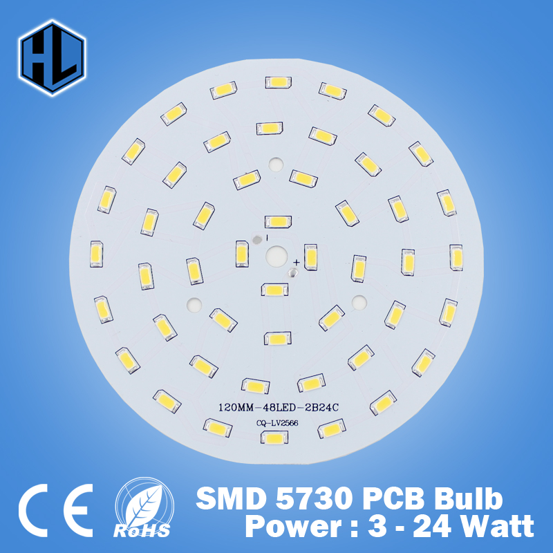 Free Shipping 3W 5W 7W 9W 12W 15W 18W 20W 24W 5630/ 5730 Brightness SMD Light Board Led Lamp Panel For Ceiling PCB With LED 20pcs 12w led light panel smd 5730 ic driver pcb input voltage ac110v 130v needn t driver aluminum plate free shippping