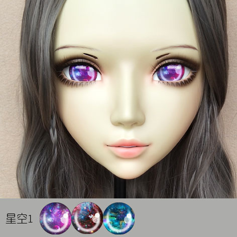 Sweet Girl Resin Half Head Bjd Kigurumi Mask With Eyes Cosplay Anime Role Lolita Mask Crossdress Doll At All Costs gl070 Conscientious