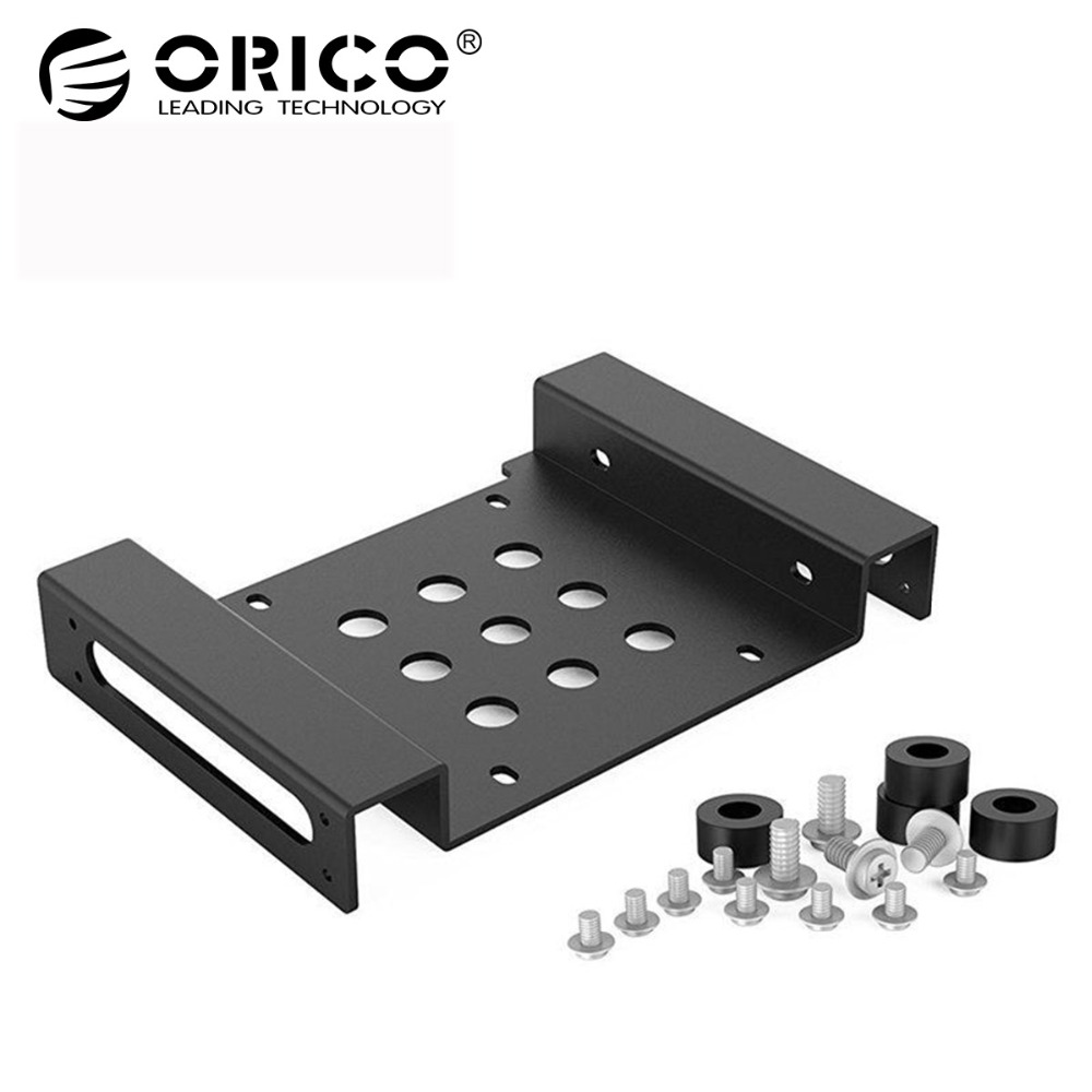 ORICO AC52535-1S 5.25-Inch Drive Bay to 3.5-Inch Hard Drive Rack SSD Solid Drive Aluminum Bracket orico aluminum 2 5 3 5 inch hard drive bracket converter