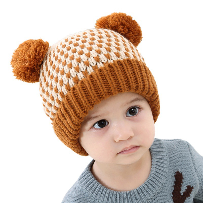28e415fd0 US $3.91 22% OFF|2019 New Baby Boys Girls Pom Poms Hat Children Winter Hat  For Girls Knitted Beanies Thick Baby Hat Infant Toddler Warm Cap-in Hats &  ...