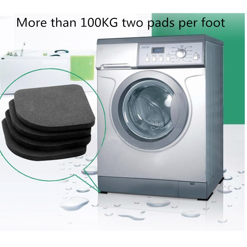 Washing Machine Anti-Vibration Pad Mat Non-Slip Shock Pads Mats Refrigerator 4pcs/set Kitchen Bathroom Accessories Bathroom Mat