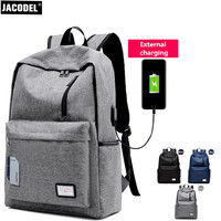 Jacodel 15 Inch Brand Laptop Bag For Macbook Dell Asus HP Notebook Bag Computer Rechargeable Backpack