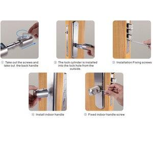 Image 4 - L6PCB Elektronische Deurslot App Combinatie veiligheid lock keypad Cilinderslot voor Airbnb Appartement EU Model