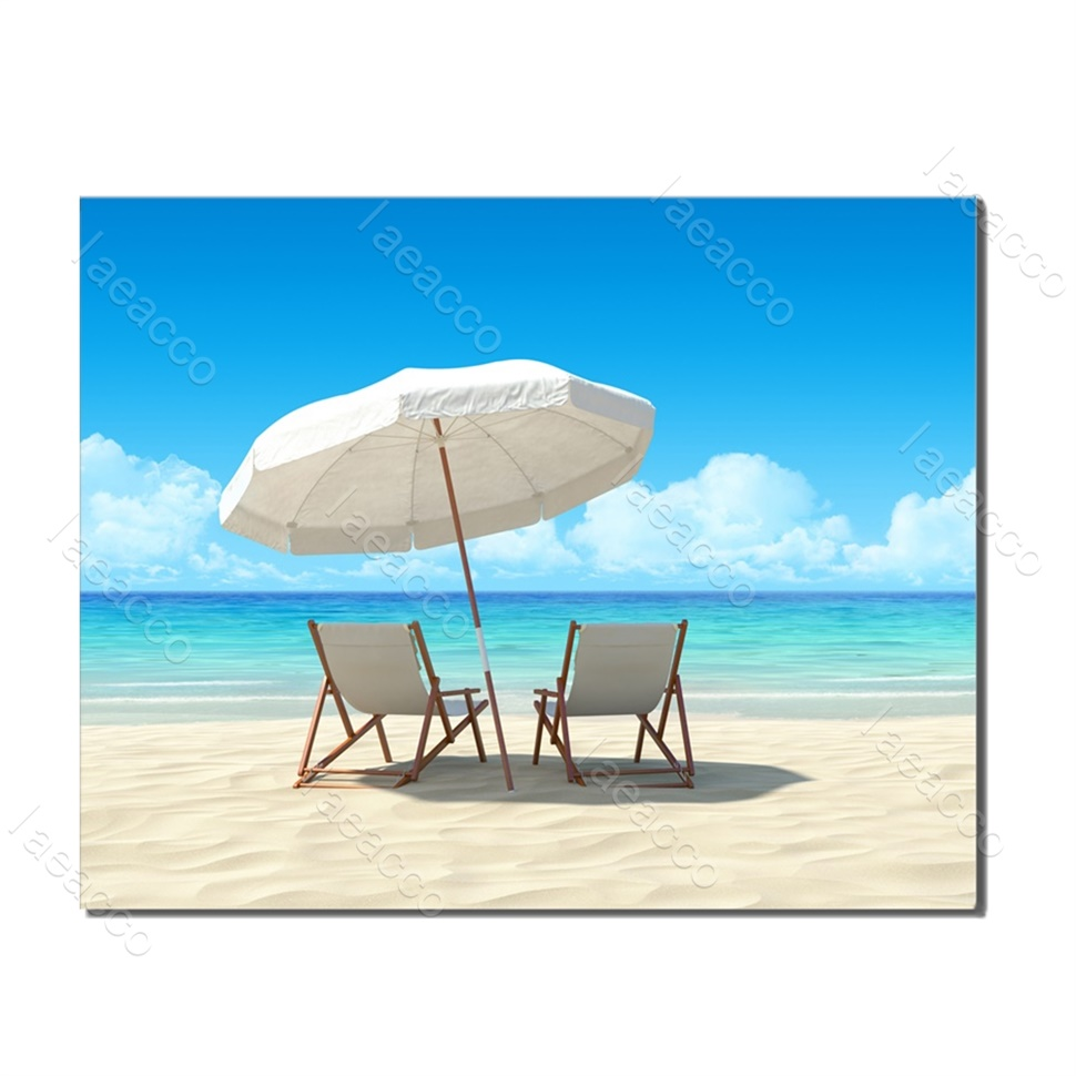 Laeacco Canvas Calligraphy Paintings on the Wall Seaside Summer Holiday Posters and Prints Wall Artwork Home Decoration in Painting Calligraphy from Home Garden