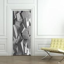3d оригинальность двери стикер водонепроницаемый, так как клейкая бумага украшения спальни гостиной стены стикер стены с грязевой штукатуркой