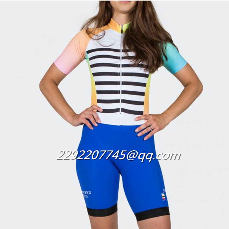 2018 TSH woman skinsuit custom Triathlon Cycling Equipment sexy body suit team  cycling clothing ciclismo ropa ed5283df5