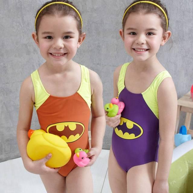 2017 one-piece meninos meninas swimwear crianças batman swimwear conjunto maiô de natação das crianças dos desenhos animados do traje dos desenhos animados patter crianças
