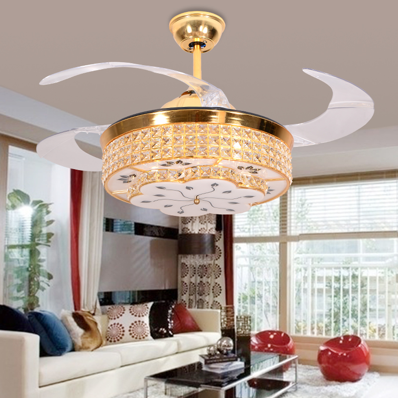 ceiling fans with hidden blades. LED Quiet Hidden Blade Crystal Stainless Ceiling Fan Lamp.LED Light. Lights.LED Light.Ceiling Lamp For Foyer   Online Shopping Malaysia Fans With Blades