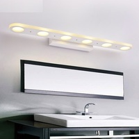Простой Современный Настенный бра Водонепроницаемый туман зеркало вращения настенные светильники светодиодные для дома Освещение в помещ