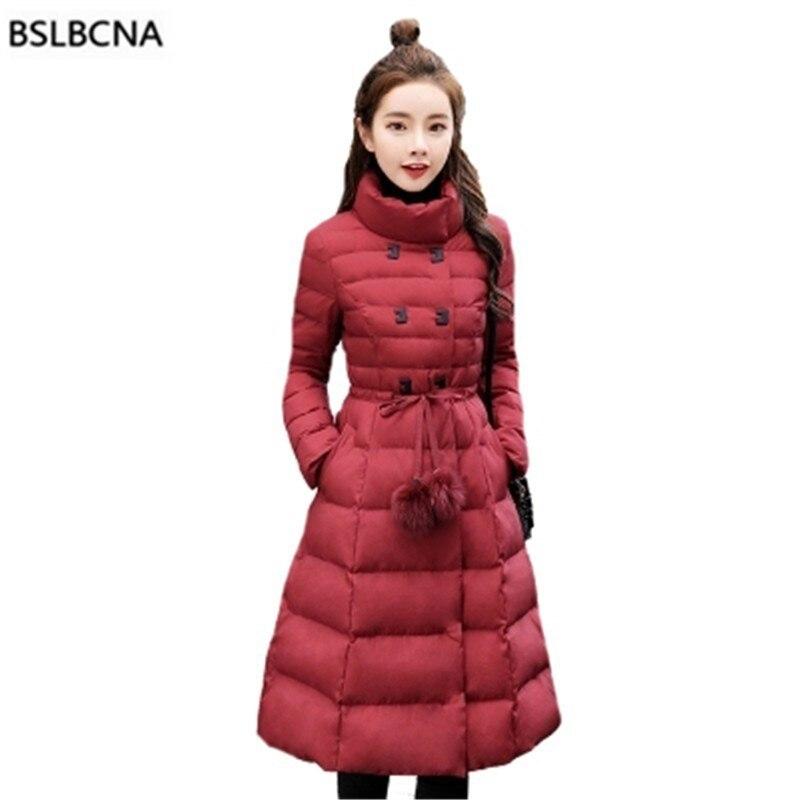Slim Coréenne Parka Femmes Veste A536 D'hiver 2018 Black purple Tops Bas Dame Coton Vers Épais Mi Le red Bureau Rembourré Vêtements Manteau Femelle Longue kXZPiu