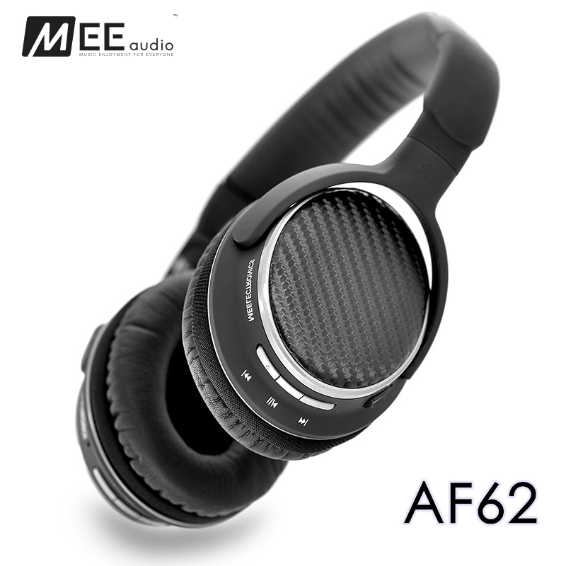 MEE Audio MEElectronics AF62 Noise Isolating Super Bass Stereo Wireless Bluetooth Headphones with NFC Microphone PK PB2.0 meelectronics atlas on ear headphones with inline microphone and universal volume control