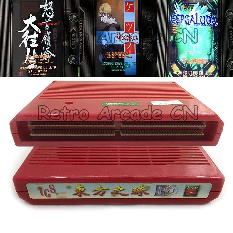 3 pcs/lot utilisé SNK NEO GEO MVS carte mère IGS Perle de l'orient II PCB 3 jeux versions pour arcade /match à domicile machine