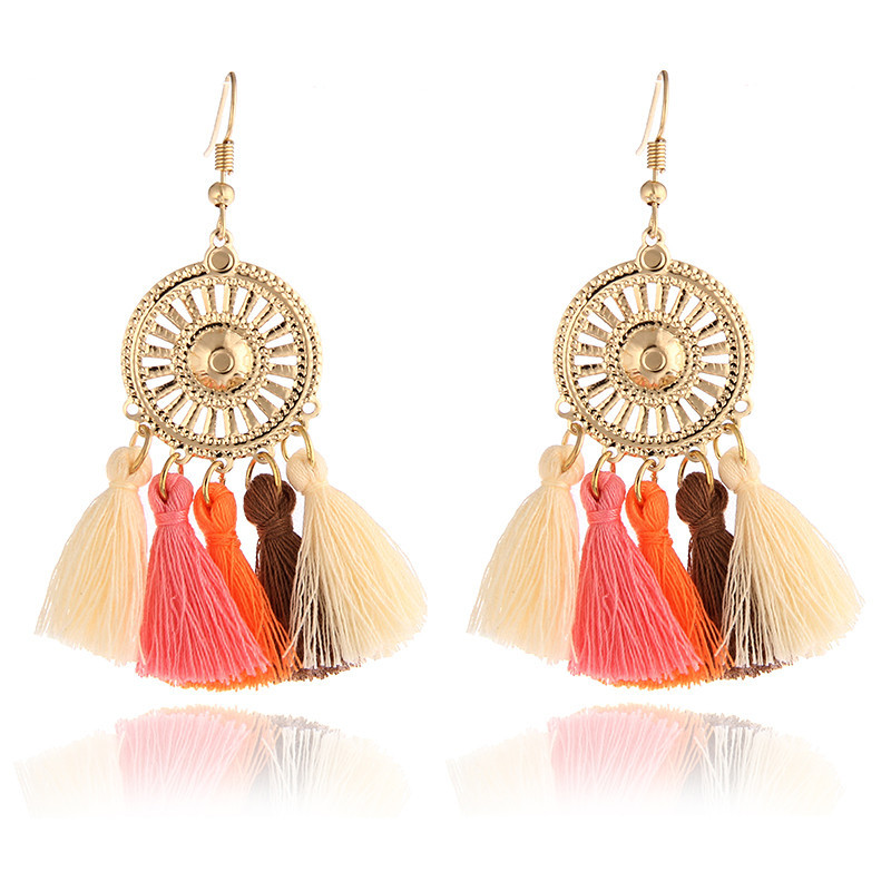 Nice Fashion Jewelry Statement Tassel Flower Vintage Long Women Bohemian Earrings Ethinic Gold Big Dangle Drop Earrings For Women 100% Original Back To Search Resultsjewelry & Accessories Earrings