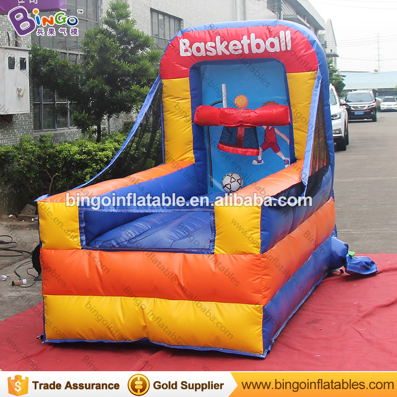 Customized 1.3x2.5x2 meters inflatable basketball game high quality PVC material inflatable game for adult and children toys 14x7 meters inflatable soccer field football court high quality pvc tarpaulin pitch for kids or children toys