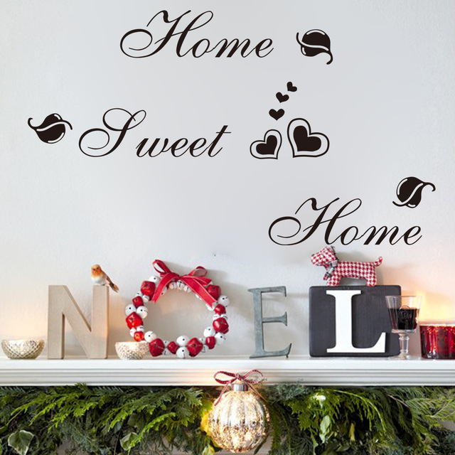 Europe Characters Wall Stickers Home Decor Living Room Home Sweet Unique Home Sweet Home Decorative Accessories
