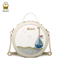 Beibaobao Printing Girls Crossbody Bag Women Messenger Bags Shoulder Bag Chain Bags Mini Handbags High Quality