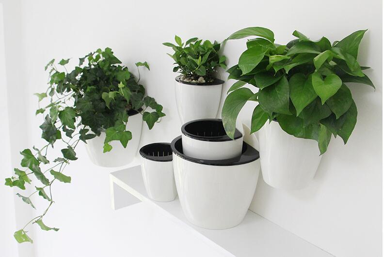 Ailury, nieuwe aankomst, 2pcs / lot, witte Plastic bloempotten - Tuinbenodigdheden