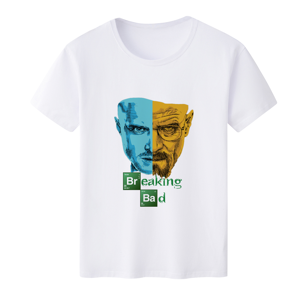 Wholesale Price 2017 New Men's t shirt Breaking Bad Pinted Summer Short Sleeve Tops Causal Fashion O-neck Heisenberg Tees