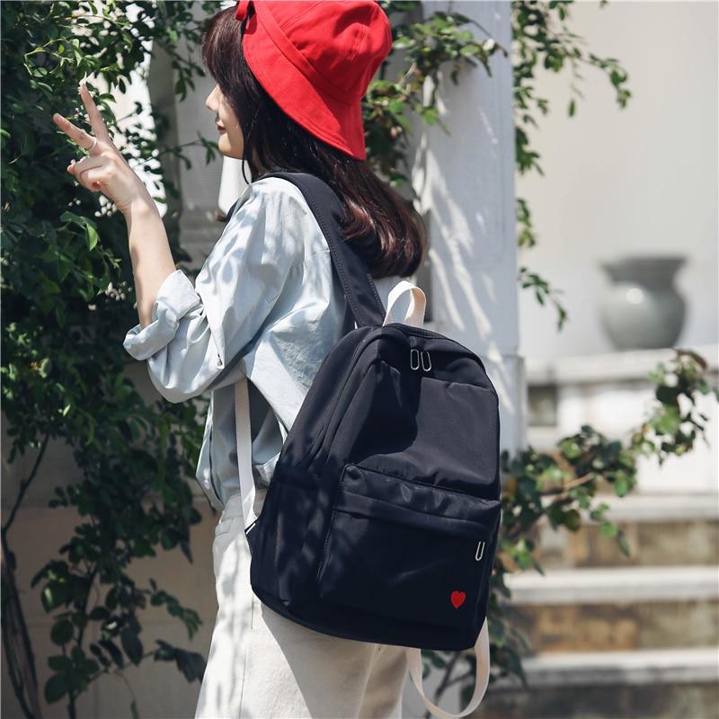 Harajuku Street Fashion School Bag Pack Women Japanese Korean Style Casual Student Backpack Girls Boys Gray Black Pink Knapsack Backpacks