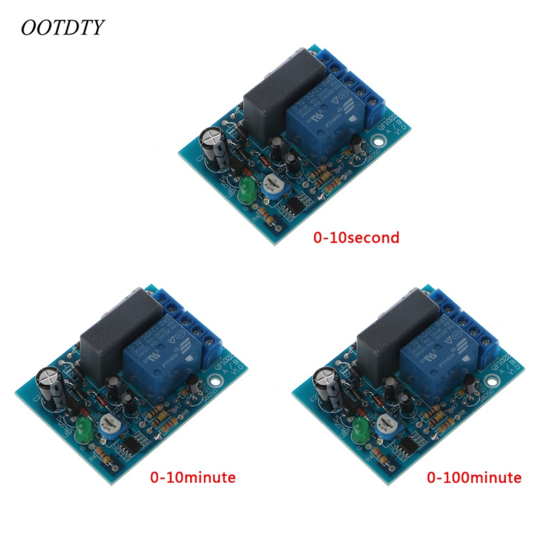 OOTDTY AC 220V Adjustable Timer Delay Switch Turn On/Off Time Relay Module