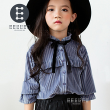 2017 New Girl Shirt Brand Children Clothing High Quality Girls Blouses Full Sleeve Kids Clothes For Girls Baby Clothes new dew shoulder design clothes the horn sleeve beautiful stripe girls blouses
