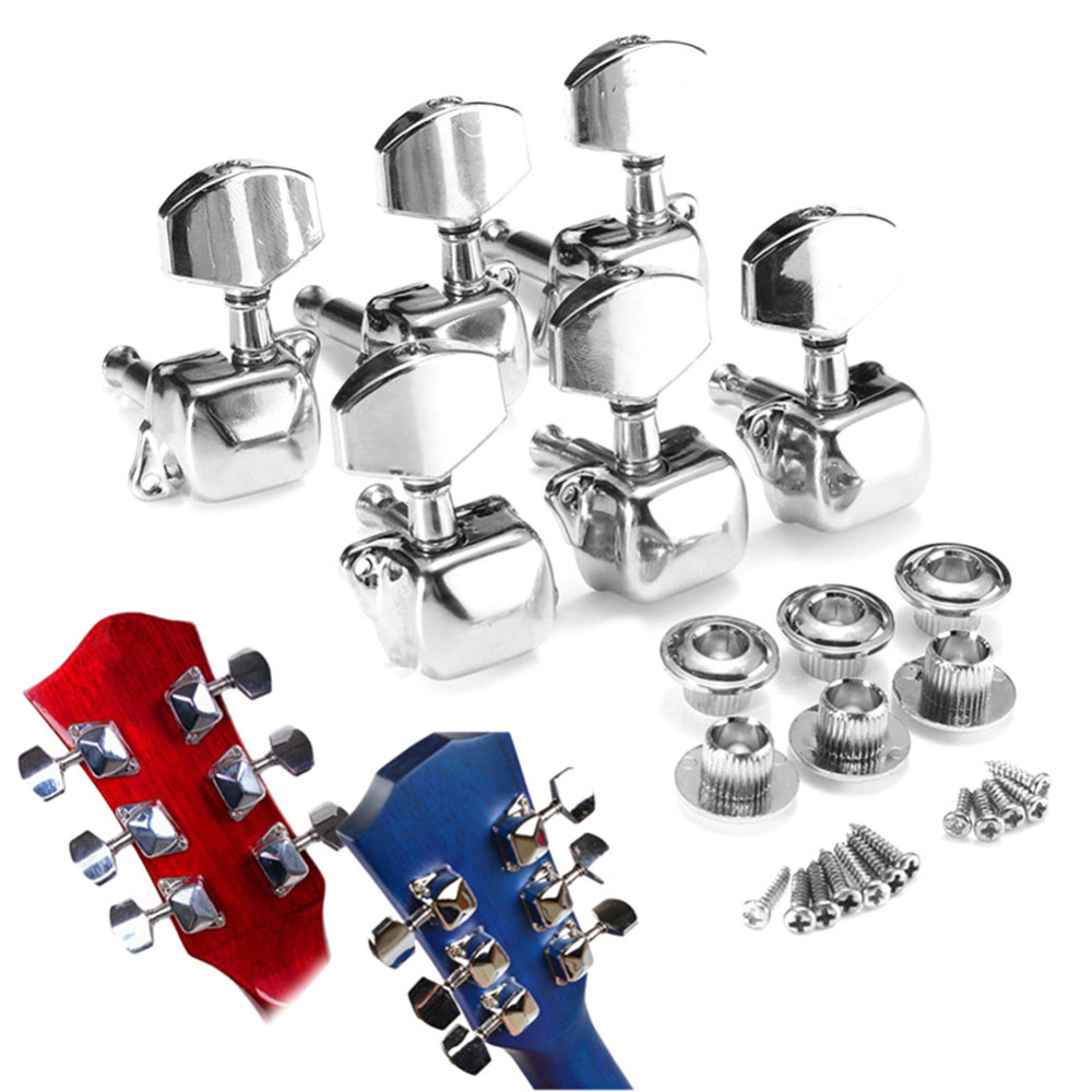 6 pcs electric guitar acoustic guitar part machine head tuning pegs 3l 3r guitar tuning pegs set. Black Bedroom Furniture Sets. Home Design Ideas