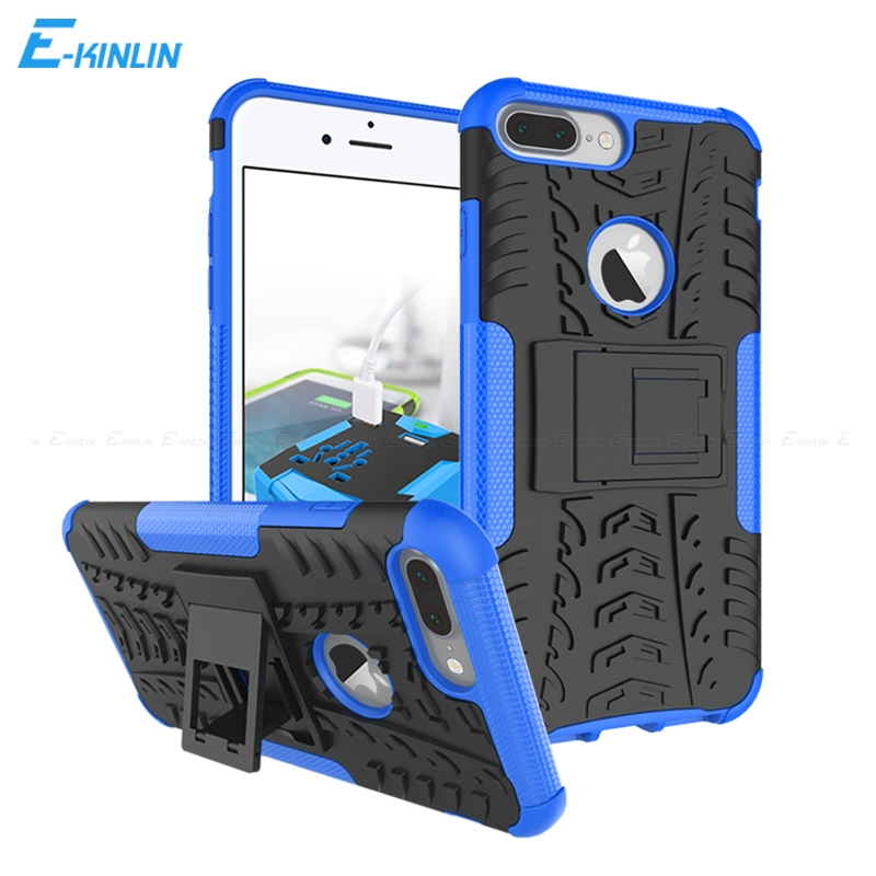 Heavy Duty Hard Plastic Soft TPU Case Rugged Shockproof Kickstand Armor Hybrid Cover For iPhone Ten X 10 6 6S 7 8 Plus