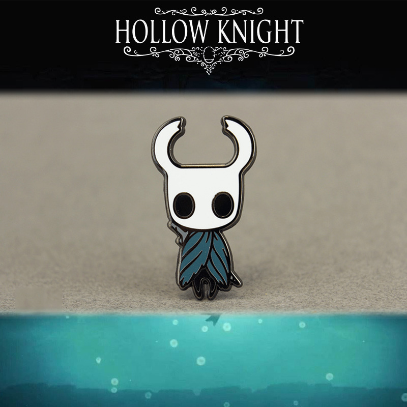 Game Hollow Knight Enamel Pin Wanderer Lapel Hornet Cosplay Badge Metal Brooch