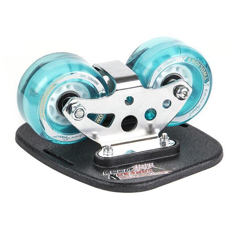 Twolions Mirage Aluminum Drift Board For Freeline With Led Wheels RoadDrift Skates Antislip Skateboard Deck Freeline Wakeboard
