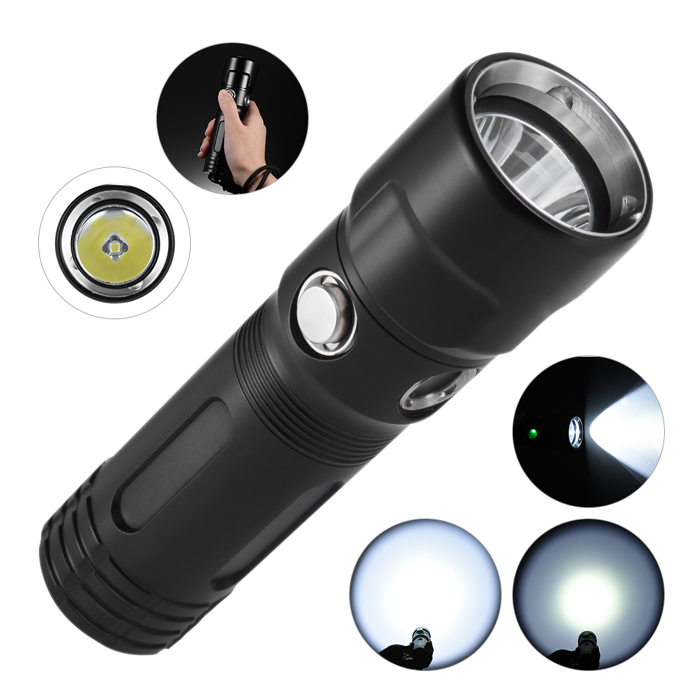 TrustFire DF011 Cree XP-LV6 1000 Lumens 3 Modes Diving Flashlight Torch Light Waterproof Underwater 50m with 1*26650 Battery nktech flashlight nk d011 diving flashlight or 1pcs trustfire 26650 5000mah battery led flashlight 3 modes 800lm