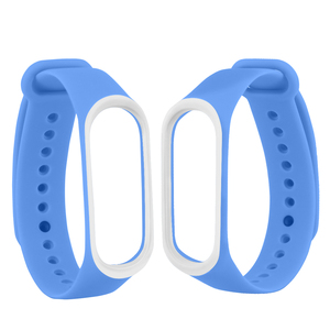 Image 3 - Smart Band Accessories For Xiaomi Mi Band 3 4 Strap Replacement Wristband Double Color Silicone Bracelet for Mi Band 4 Strap
