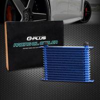 EUA Envio 15-Row 10 Um Azul Pó-Revestido de Alumínio Motor/Transmissão Radiador de Óleo de Corrida