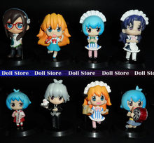 6-7cm 8PCS/LOT PVC Q version EVA Ayanami Rei/Soryu Asuka Langley action figure Maid looks Japanese anime figure kids toys(China)