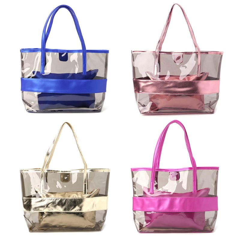 NoEnName_Null High Quality Shoulder Bag Women Transparent Shopping Bags Jelly Clear Beach Handbag Tote Shoulder BagNoEnName_Null High Quality Shoulder Bag Women Transparent Shopping Bags Jelly Clear Beach Handbag Tote Shoulder Bag
