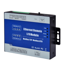 Modbus TCP Ethernet Data Acquisition Module Remote IO Supports 5 TCP Links Pulse counter 12-36V(4DI+4DO+4AI+2AO) modbus tcp rj45 ethernet remote io module for fieldbus automation built in watchdog supports register mapping m120t
