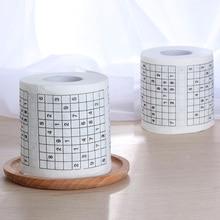 1 рулон 2 Слойная Новинка Забавный номер Sudoku Печатный туалет для ванной смешной мягкой туалетной бумаги салфетки принадлежности для ванной подарок