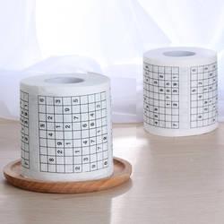 1 рулон 2 слоя смешно номер судоку печатных ванны Забавный мягкой туалетной Бумага ткани Ванная комната принадлежности новинка полезный