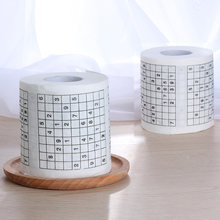 1 Roll 2 Ply Novelty Funny Number Sudoku Printed WC Bath Funny Soft Toilet Paper Tissue Bathroom Supplies Gift(China)