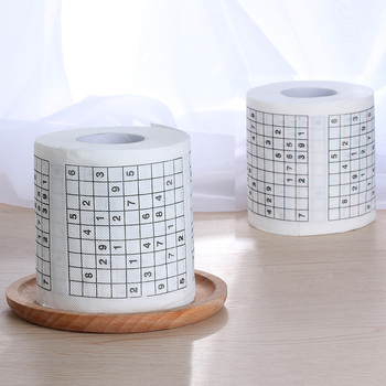 1 Roll Sudoku Printed Paper Towels Made Of High Quality Paper Material For Restaurants