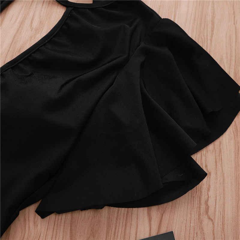 Hirigin пикантные женские черные комбинезоны для отдыха модные с воротником в виде листьев лотоса летние женские боди для отдыха для девочек Прямая поставка