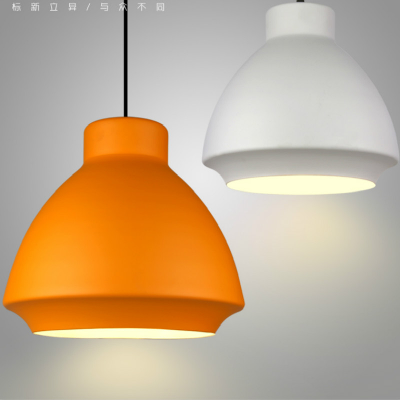 Original Designer Modern Nordic White/orange Iron Led E27 Pendant Lamp For Dining Room Living Room Restaurant Dia 26/35cm 1887 mo materials co2 laser lens mirrors 20mm diameter 95% reflecting rate