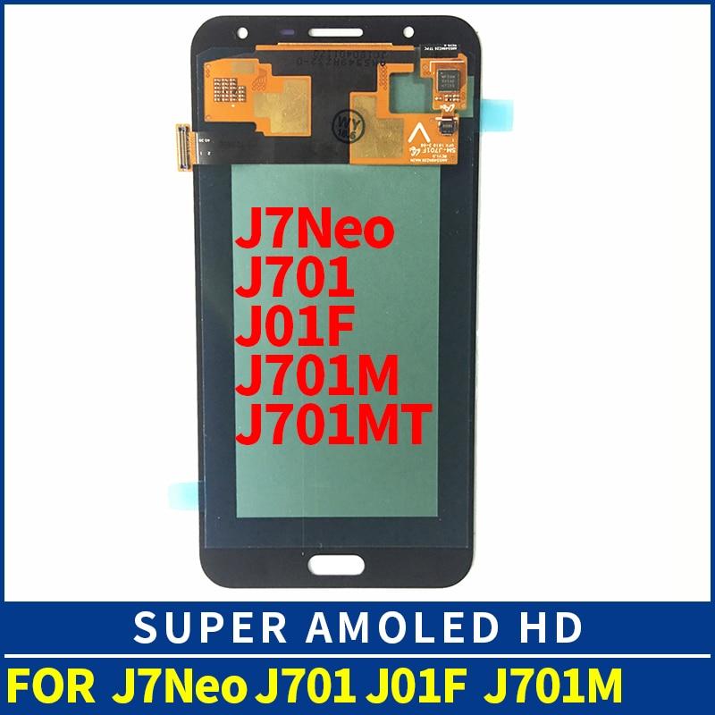 J701F lcd 5.5 SUPER AMOLED For SAMSUNG Galaxy J7 Neo LCD Display J701M J701MT j701 LCD Digitzer Assembly Replacement PartsJ701F lcd 5.5 SUPER AMOLED For SAMSUNG Galaxy J7 Neo LCD Display J701M J701MT j701 LCD Digitzer Assembly Replacement Parts