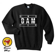 Amsterdam Printed Shirt Graphic Black Top Crewneck Sweatshirt Unisex More Colors XS - 2XL