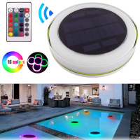 Romantic Solar Power RGB LED Underwater Light Outdoor Swimming Pool Floating Waterproof Decorative LED Light With Remote Control