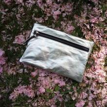 nieuwigheid schapenvacht zilveren dag clutch voor vrouwen luxe zachte lederen kleine een schoudertas dame zomer mini crossbody tas