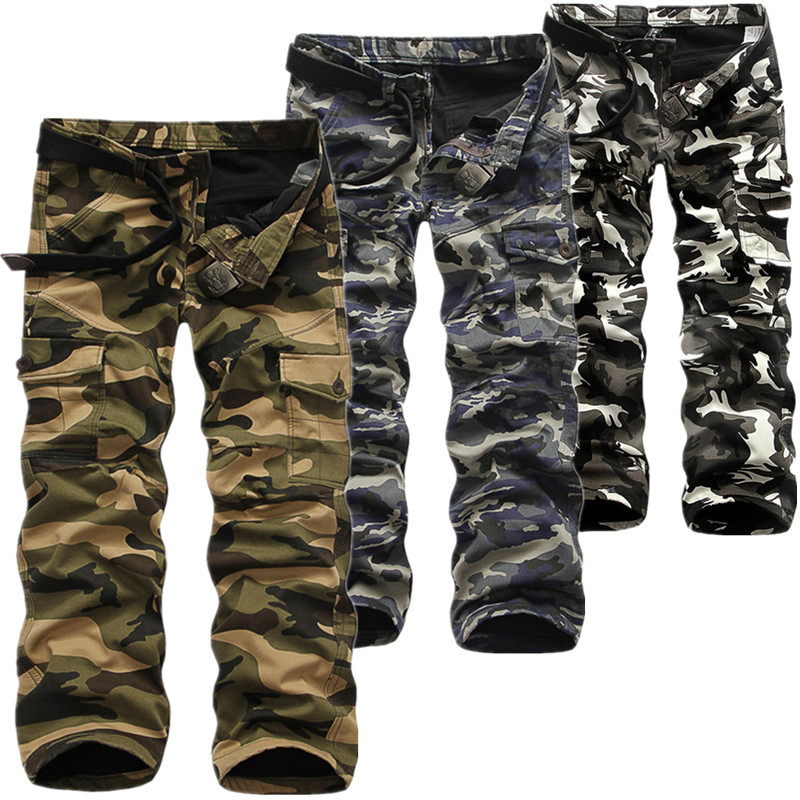 Winter Thicken Fleece Army Cargo Tactical Pants Overalls Men's Military Cotton Casual Camouflage Trousers Warm Pants 4