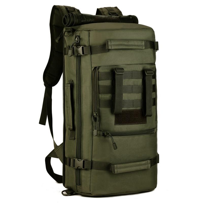 Bagaj ve Çantalar'ten Sırt Çantaları'de Erkek Askeri 50L Molle Tatico Sırt Çantası Su Geçirmez Naylon Çanta Sırt Çantaları Çok fonksiyonlu Seyahat laptop çantası Sırt Çantası Sırt çantası'da  Grup 1